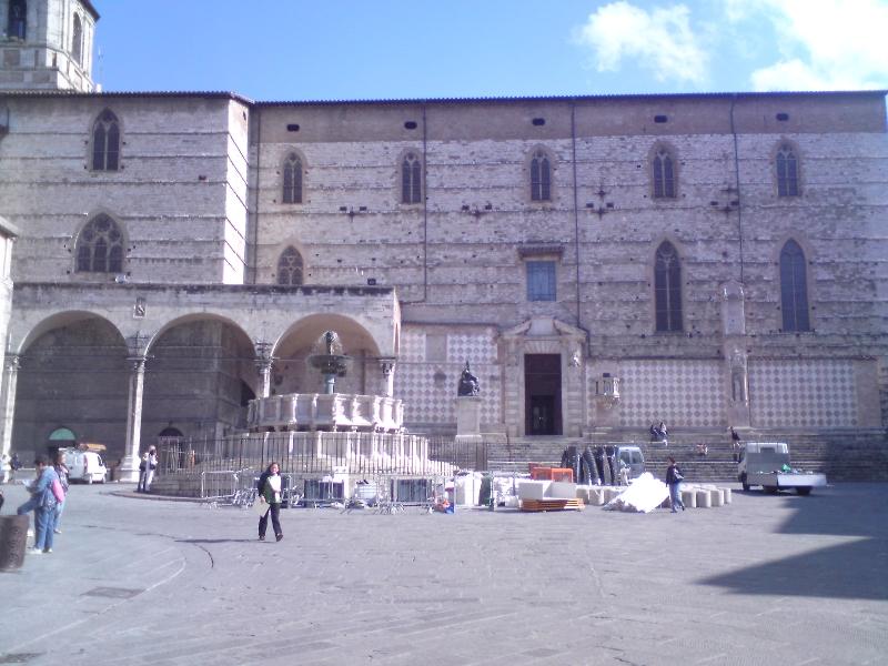fontána v centru města Perugia