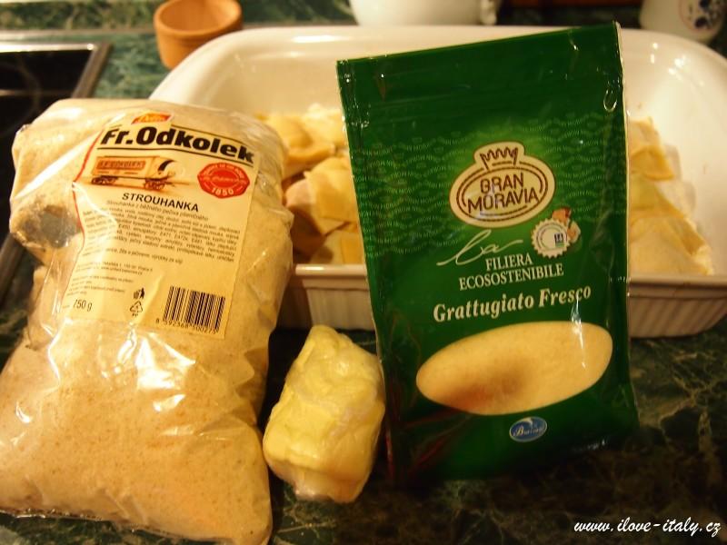 základní ingredience na ravioli