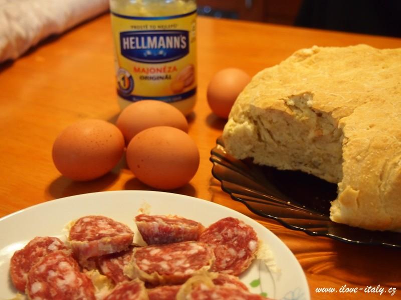sýrový dort z italské umbrie