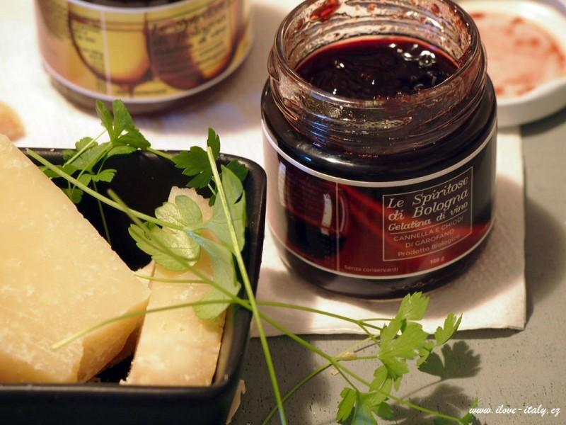 vinná želatina se sýrem pecorino