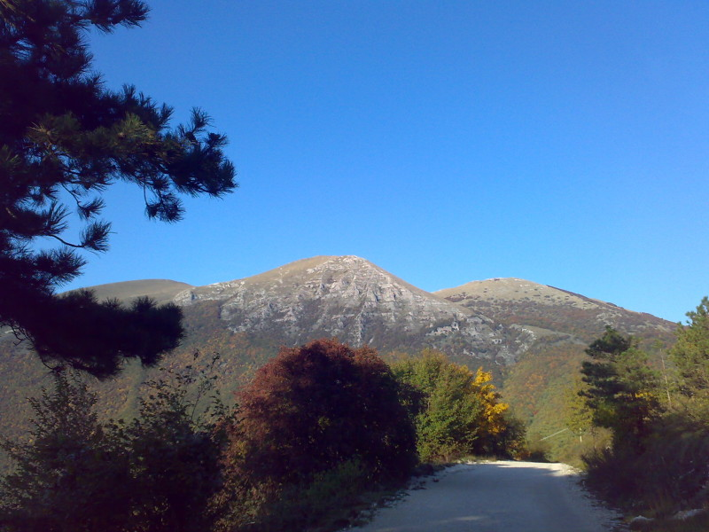 hory a příroda v umbrii