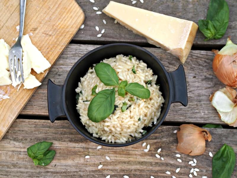 italské risotto s bazalkou