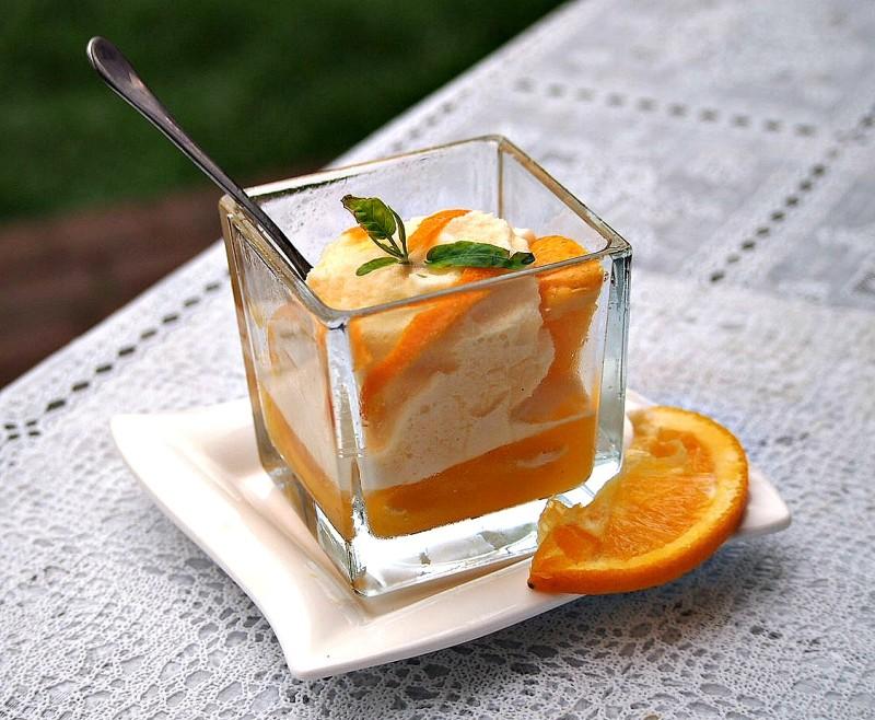 pomerančový sorbet
