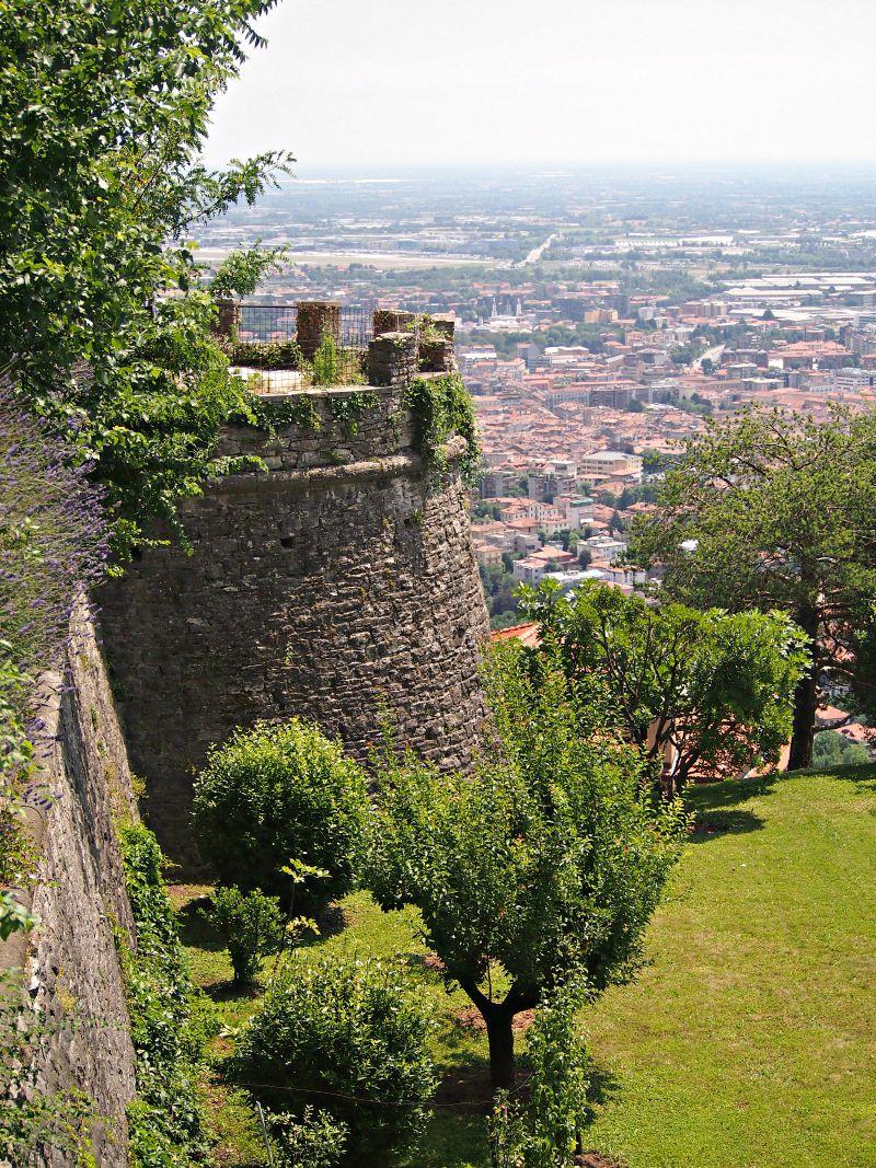 hrad v bergamu itálie sever
