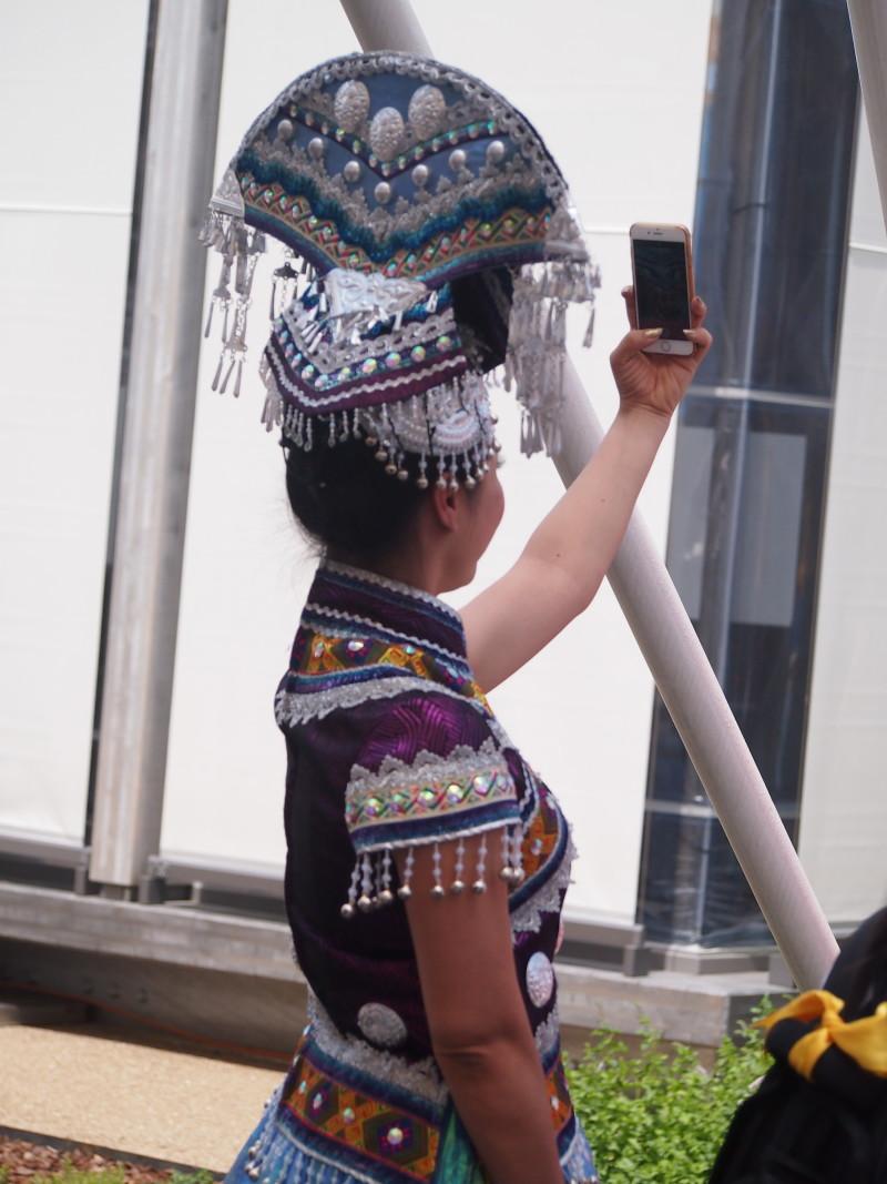 selfie čínská expo