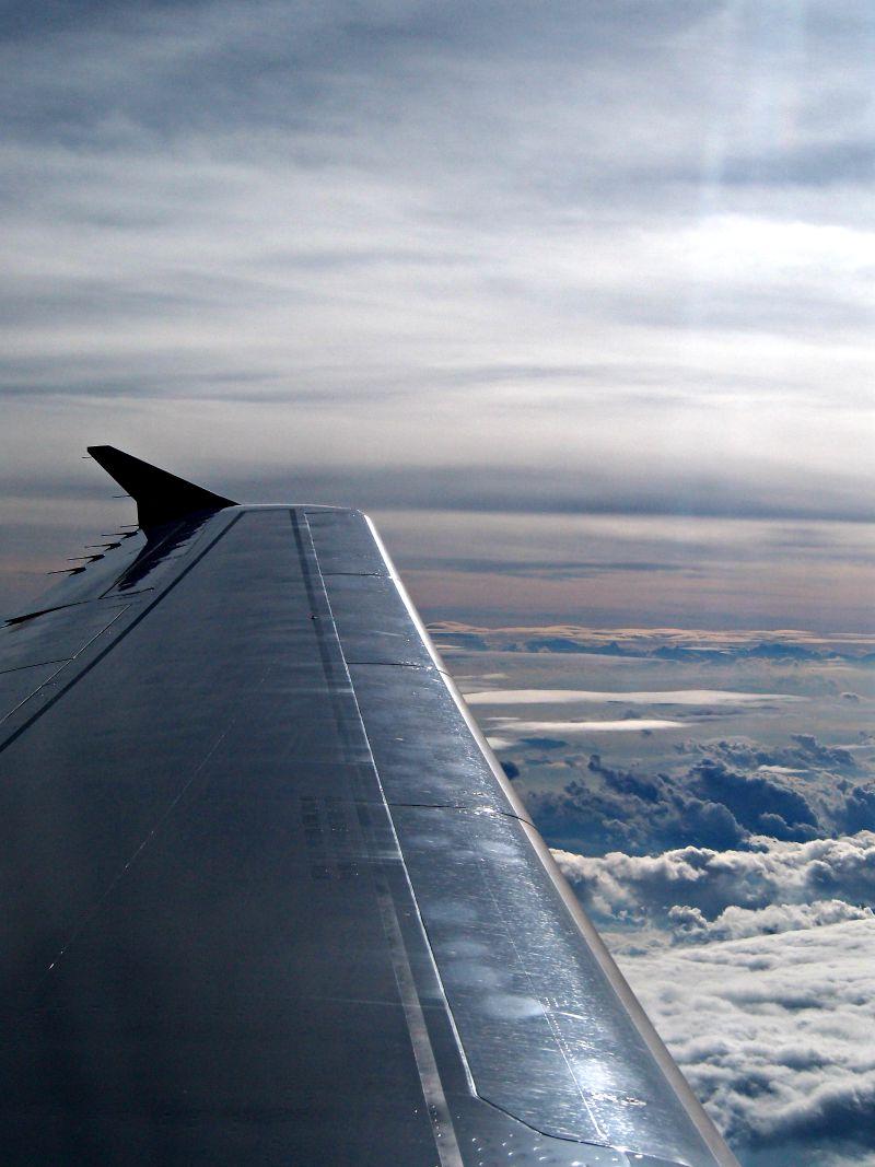 letadlo výhled na mraky