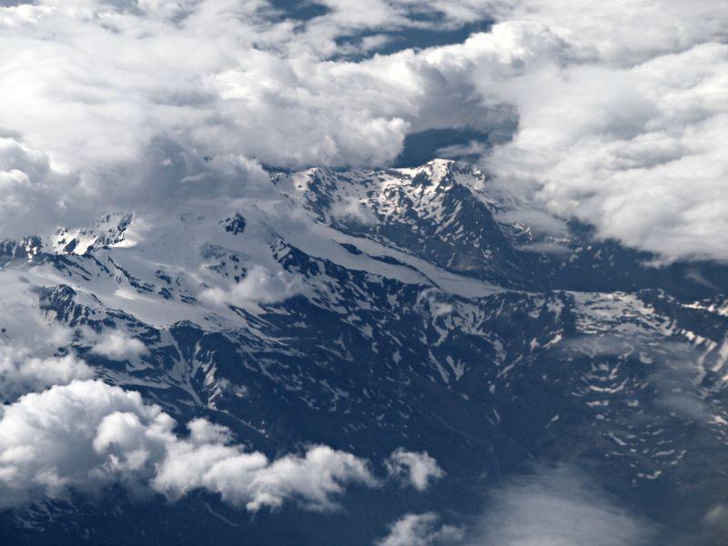 výhled na alpy z vrchu