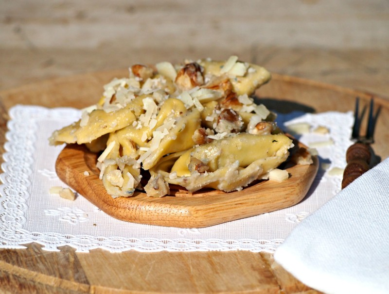 italské tortellini se špenátem