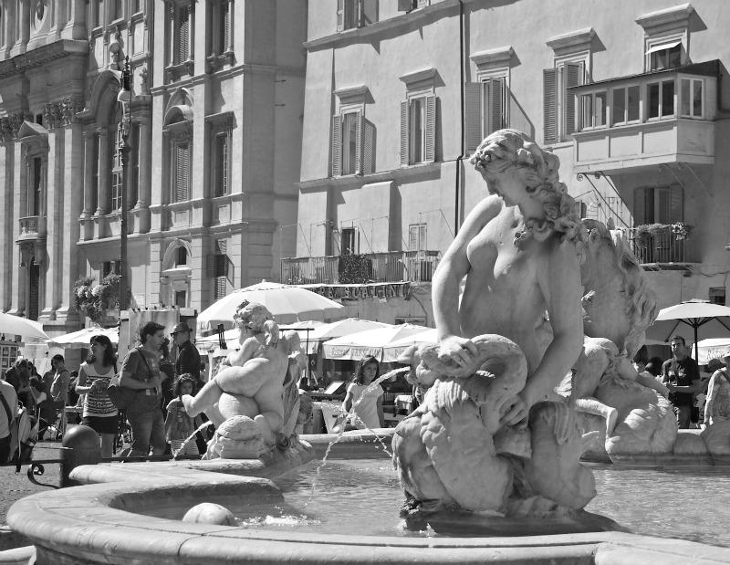 náměstí navona - sochy a fontány