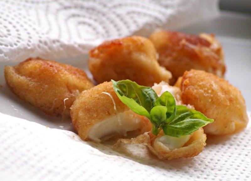 smažené mini mozzarelly italské