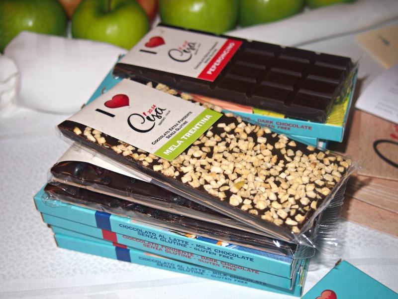 čokoláda s jablky z trentina
