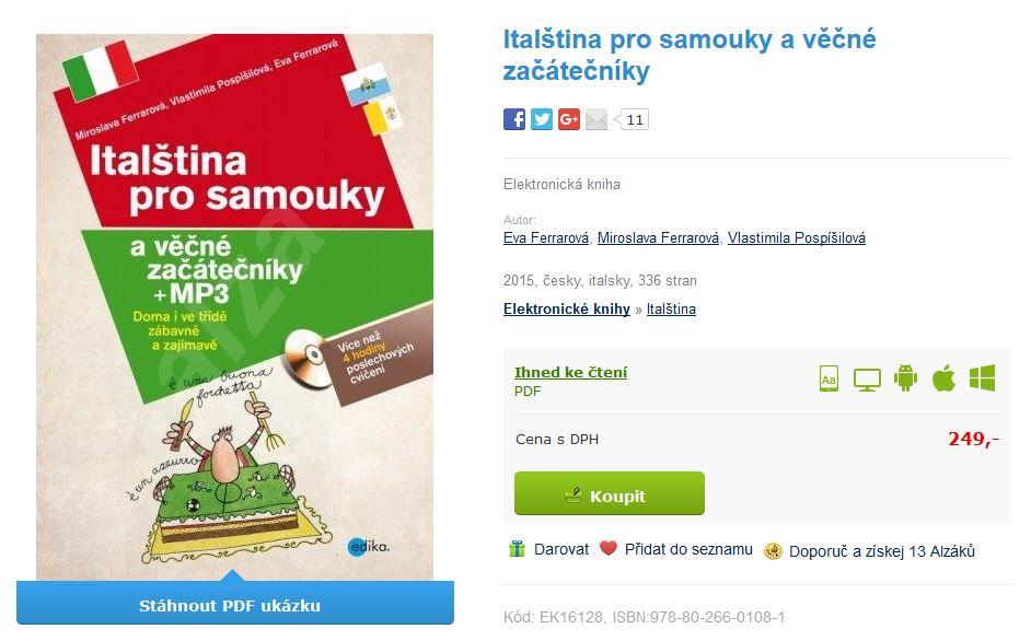 učebnice italština pro samouky