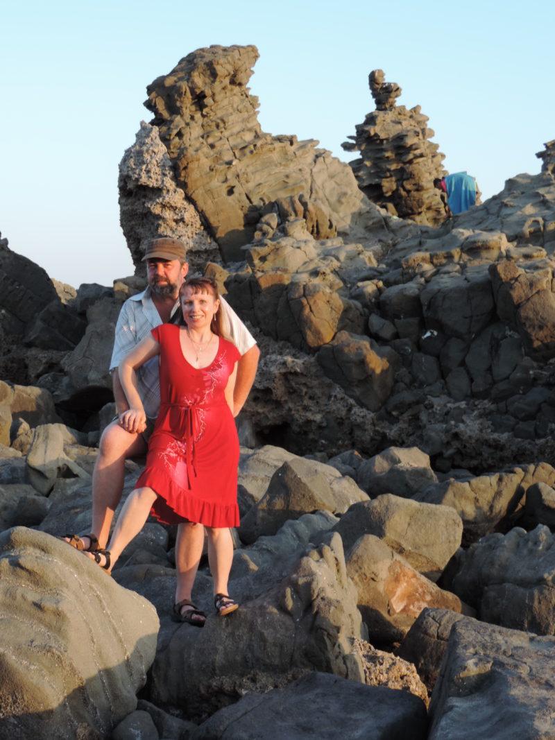 Itálie Acitrezza - skalnaté pobřeží
