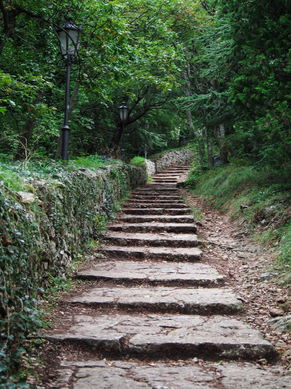 lesní cesta itálie