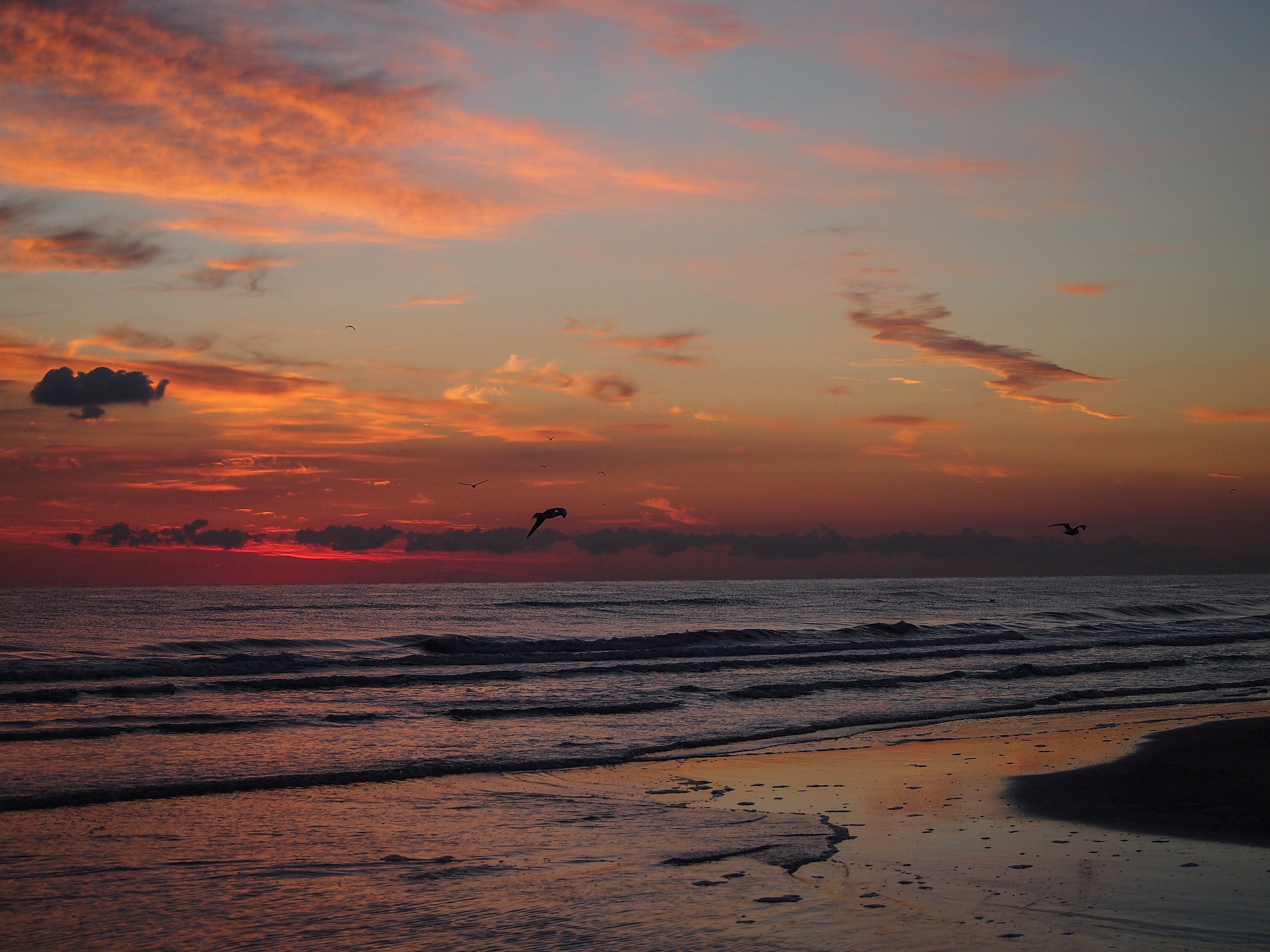 úsvit slunce moře v rimini