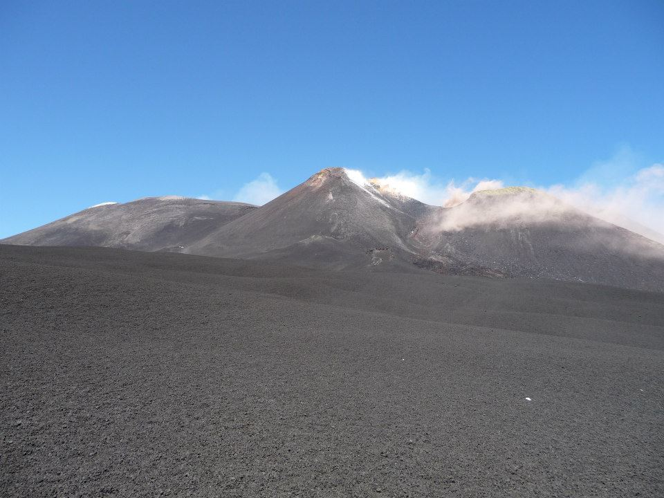 na vrcholku Etny